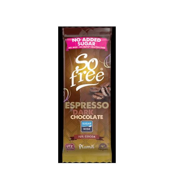 Ciocciolato fondente senza zucchero all'aroma di caffè So Free 35g - Senza Glutine