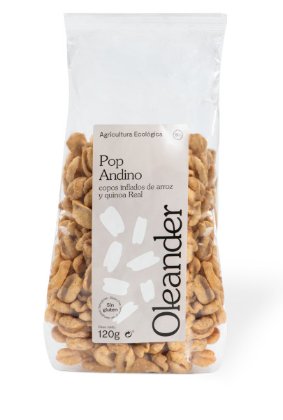 Riso e quinoa reale soffiati delle Ande Bio Senza Glutine120g