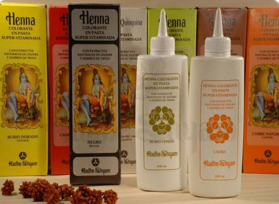 Colorazione Henna in pasta vitaminizzata color castano scuro - 200 ml