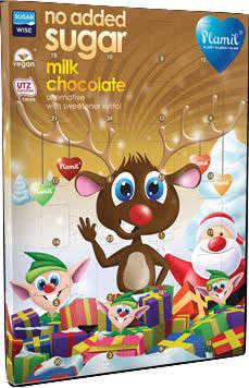 Calendario Avvento Cioccolato.Calendario Dell Avvento Di Cioccolata Senza Zucchero Senza Glutine