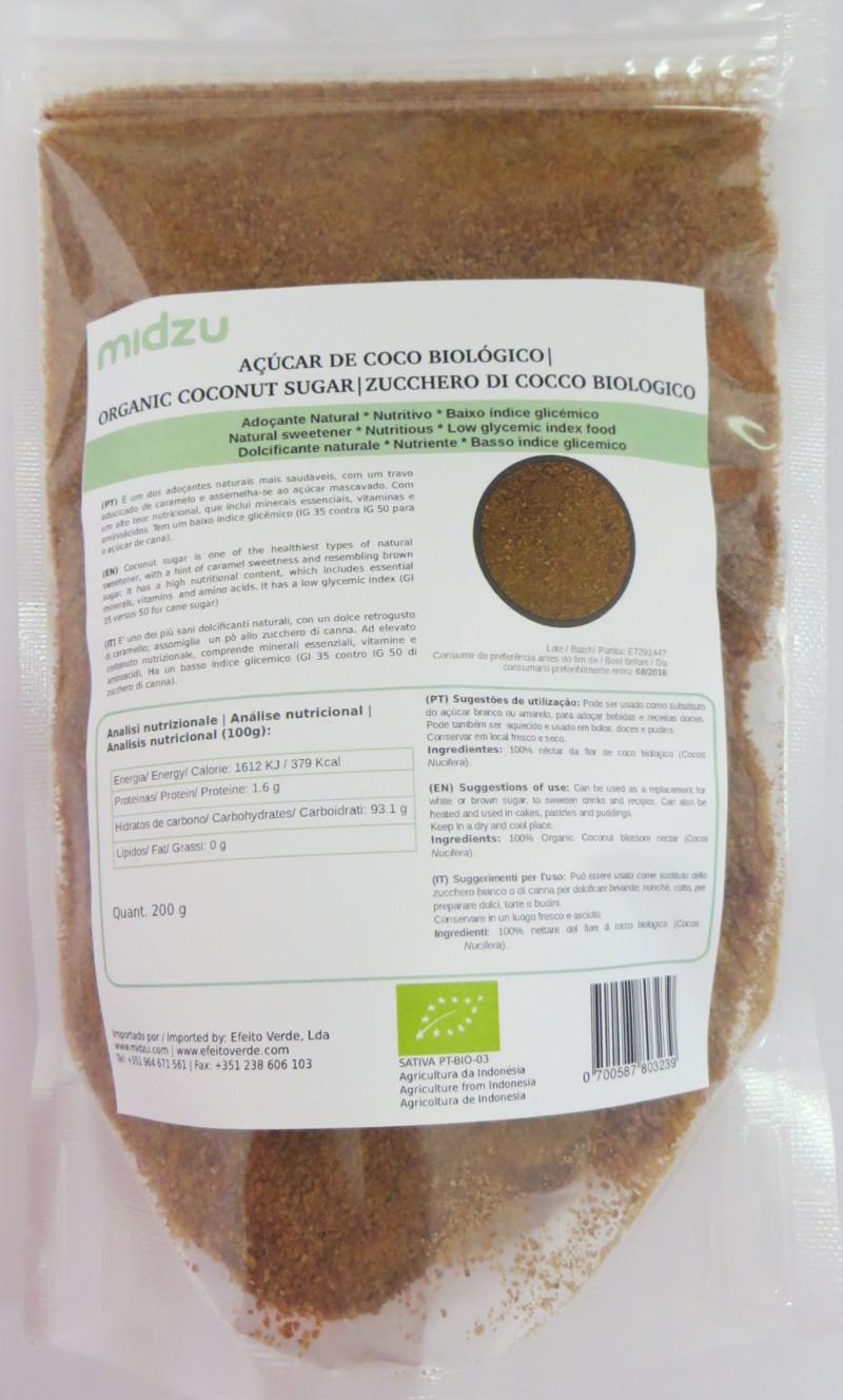 Zucchero di cocco biologico Midzu - 200 gr