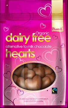 Cuori di cioccolato biologico - 125 gr