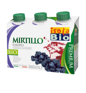 Succo di Mirtilli Biologico Premium - 3 x 200 ml