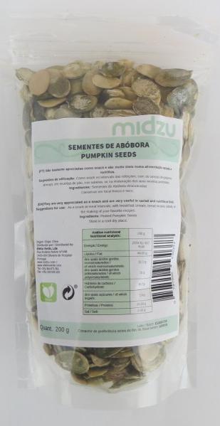 Semi di Zucca Sbucciati Midzu 200 g