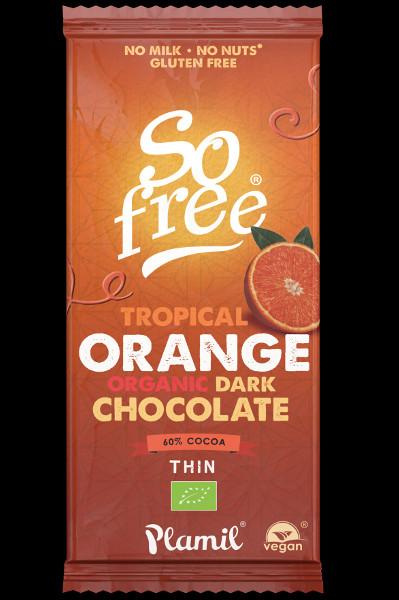 Cioccolato nero biologico con arancia tropicale So Free 80g - senza glutine