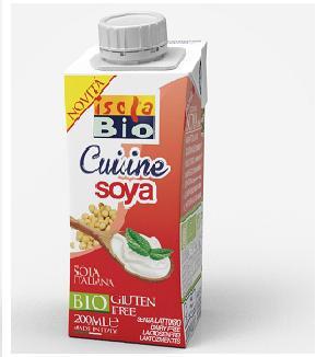 Crema di Soia da Cucina Bio - ISOLA BIO - 200ml - senza glutine
