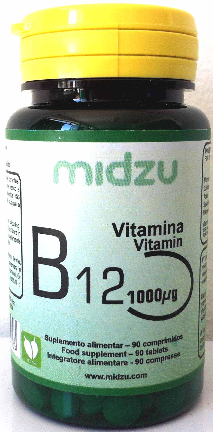 Vitamina B12 Midzu (1000ug)