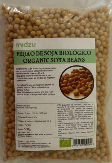Fagioli di soia biologici Midzu -  500 gr