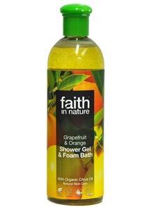 Gel Bagno Doccia e schiuma da bagno al pompelmo e all'arancia - 400 ml