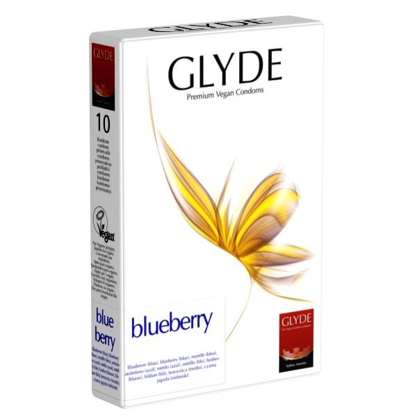 Preservativi vegan Glyde al mirtillo