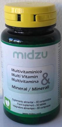 Multivitamina & minerali Midzu