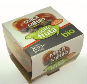 Puré di Mirtillo e Mela biologici - 200 gr